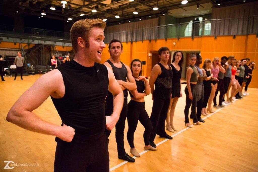 Don in A Chorus Line Rehearsal - CCM 2016